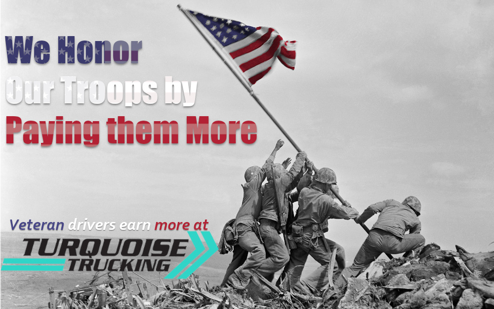 We honor our troops by paying them more. Veteran drivers earn more.